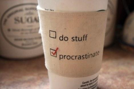 Procrastinate_ cup cozy